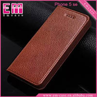 For iPhone SE Magnetic real leather case for iPhone 5 6 6 Plus