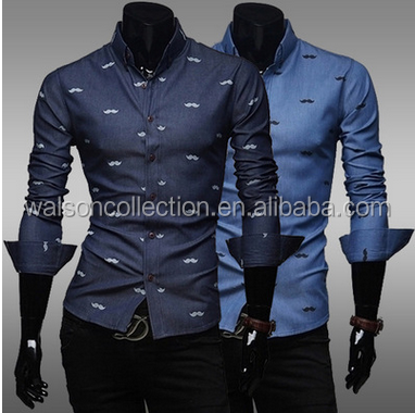 walson slim fit men formal shirts New Mens Cotton Slim Fit Shirt Long Sleeve. S M <strong>L</strong> XL