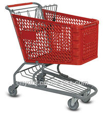 plastic folding trolley shopping bag with wheels