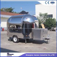 four-wheel food warmer car/fast breakfast food carts mobile kitchen trailer/coffee hamburgers cart for sale