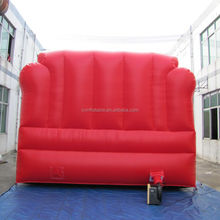 4m giant inflatable red sofa /red inflatable advertising sofa