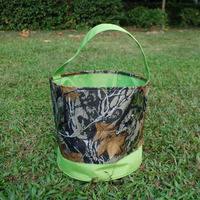 Wholesale Blanks Vintage Camo Easter Buckets Leaf Easter Tote Bags Unique Design DOM104239