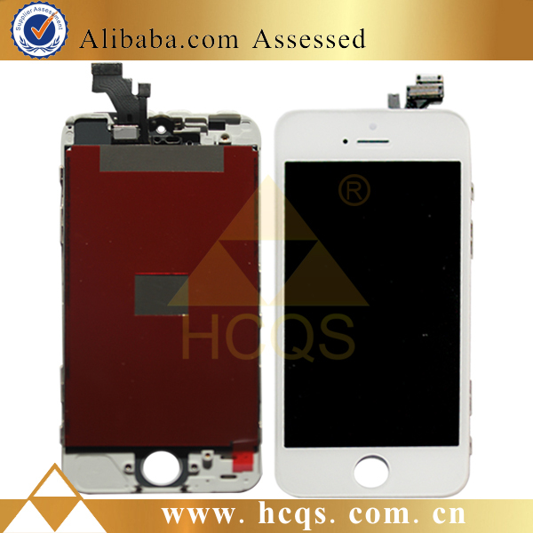 LCD +Touch screen +Home button + front camera for iphone 5 lcd complete , original for iphone 5 lcd digitizer