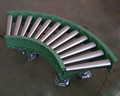 R-TCN STEEL curve roller conveyor,taper roller conveyor