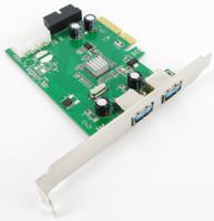 USB 3.0 2 Lan PCI Express Card (2 external ports + 2 internal ports) - Etron * Support IPad Charging