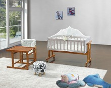 baby single bed solid wooden cot high quality baby crib swing baby cradle