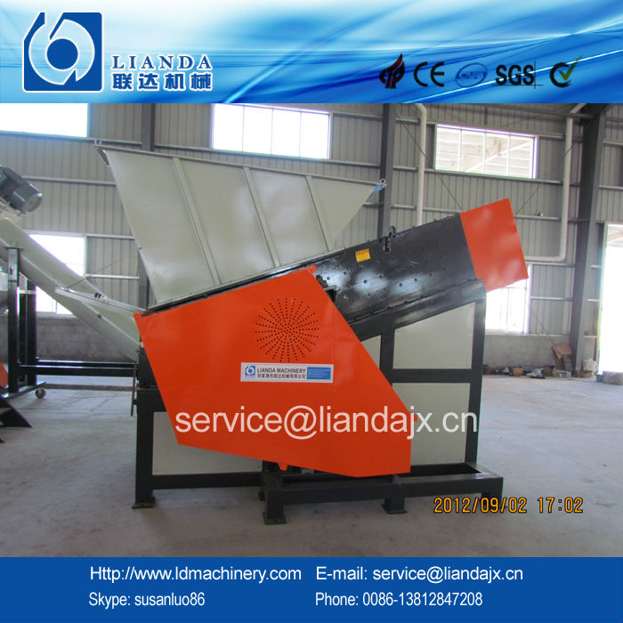 Plastic film/bag single shaft shredder machine
