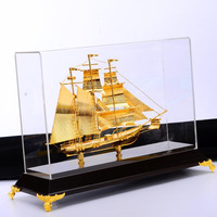 Real Gold Plated With Copper High End Ship Boats
