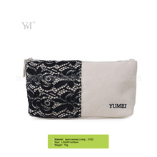 hot selling beauty korean canvas bag cosmetic pouch