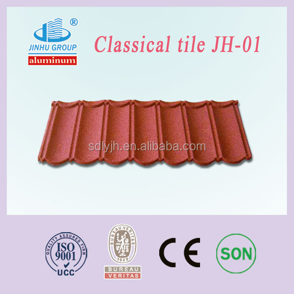 Modern roofing materials stone coated galvalume steel roofing tiles