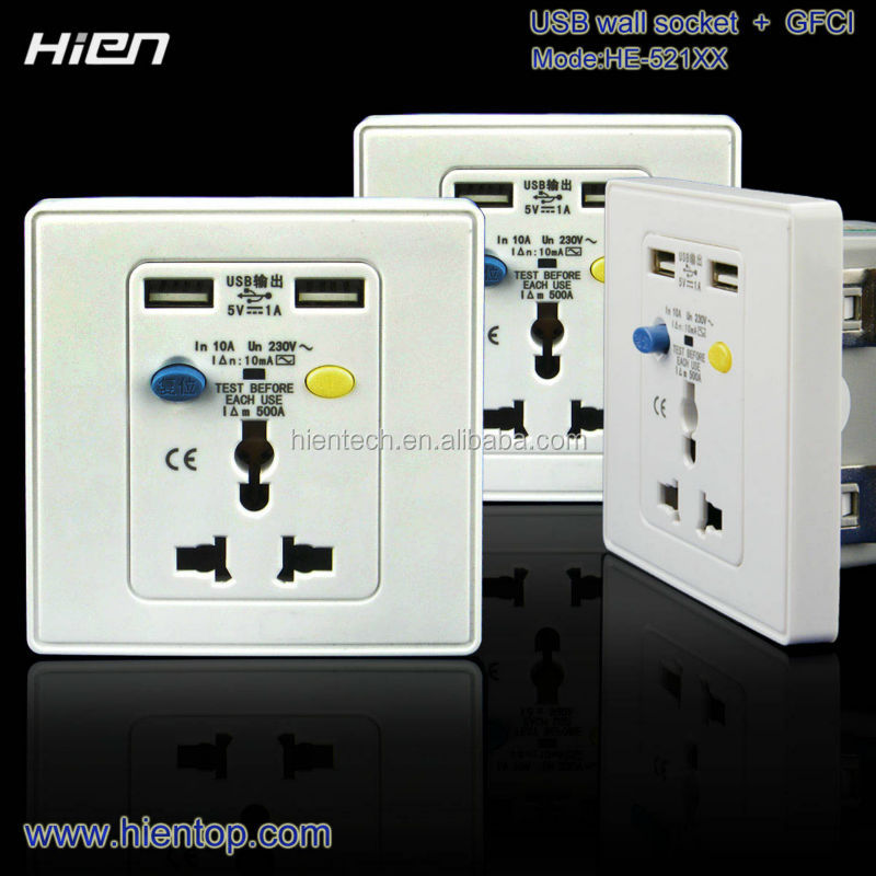 220V GFCI receptacle for European using