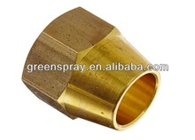 Metric Thread Brass Compression Tube Fitting Nut