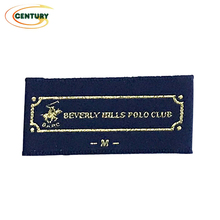 Free sample woven label clothing custom clothes tag