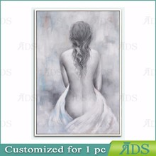 Hand Made Abstract Half-Naked Nude Women Oil Painting