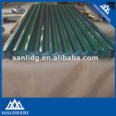 Color steel tile from china supplier galvanized corrugated steel plate/zinc roofing steel sheet