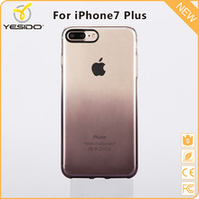 Yesido Customized case half clear for iphone 7 plus printed back safe cover gray