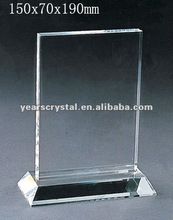 Pure crystal blank block with engraved for crystal trophy and award (R-0256)