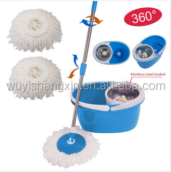 Salable and easy portable microfiber magic mop with 2 pcs mop refills