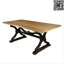 Hot sale french rustic style victorian style wooden dining table chair set 12 seater dining table oak dining table