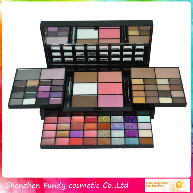 Cosmetics all shimmer 74 color Magic Color Cosmetics cheap eyeshadow palette with mirror and brush