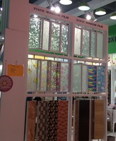 PVC window glass film frost printed static window film for decoration