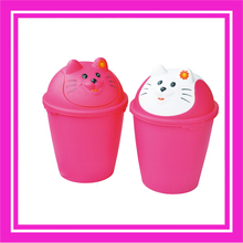 outdoor plastic color coded garbage/waste bins