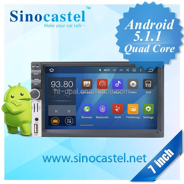 Universal android 4.4.4 quad core car gps navigation with wifi, bluetooth