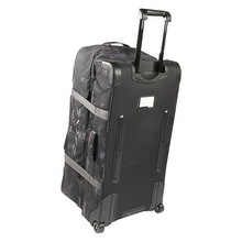 Extra large long camouflage rolling duffel bag wheeled trolley luggage garment cabin bag