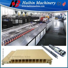 wood plastic door frame making machine/ pvc wpc profile production line