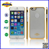 For iPhone 6 Stylish Gold/Silver Plated Brushed Aluminium Metal Cases