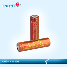 IMR18650 rechargeable battery for e-cigarette 1500mah trustfire IMR18650 li-ion battery cell 1.5v aa rechargeable battery