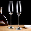 Diamond foot crystal champagne glass lead-free crystal glass for gifts