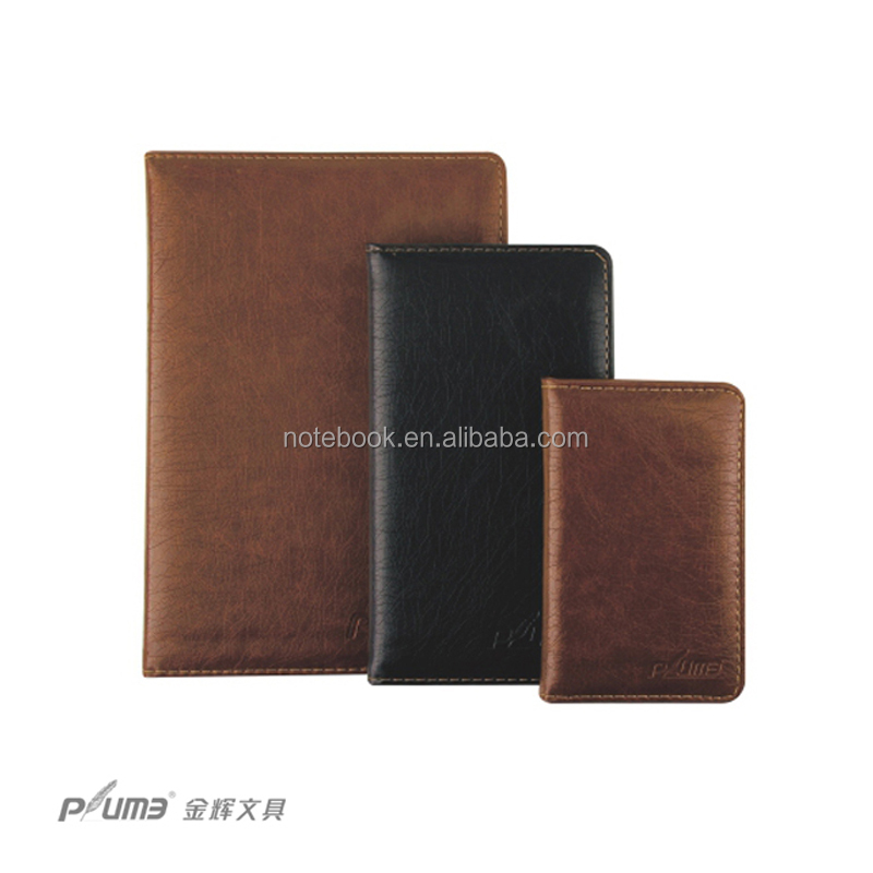 Soft pu leather cover travel notebook journal