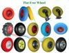 high quality flat free pu foam wheel 3.00-4