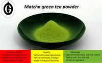 Green tea (low calorie) traditional matcha powder drink also used as japanese dessert