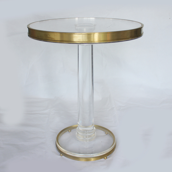 Small Metal Framed Clear Acrylic Dinning Table And Chairs