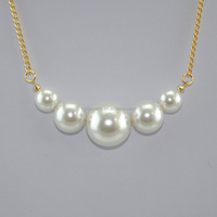Imitation pearl necklace new design style, simple necklace