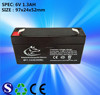 feilang factory offer 6V 1.3AH sealed lead acid battery for scale to inida pakistan ert