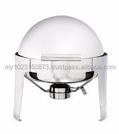 32cm High Quality Deluxe Rolled Top Round Chafing Dish, Food Warmer