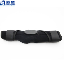 Medical grade rigid hinged knee joint brace orthosis support rehabilitation equipment