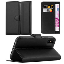New Lichee Wallet PU Leather Flip Phone Case Back Cover With Credit Card Slots For Apple iPhone X