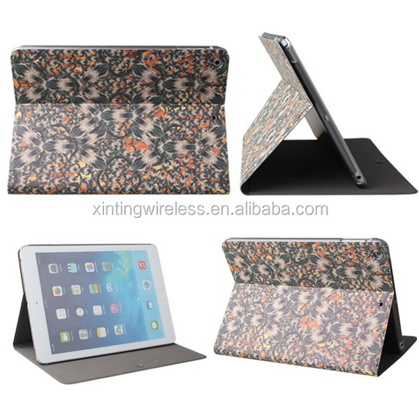 new pattern designed pu leather book stand cases for iPad Air