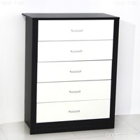 Modern wooden grain melmained MDF cheap Modern large simple used chest of drawers