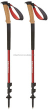 incline handle adjustable camping hiking stick pole alpenstock telescopic retractable walking sticks