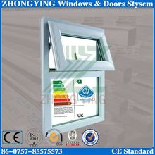 8mm tempered glass roof type upvc pivot window