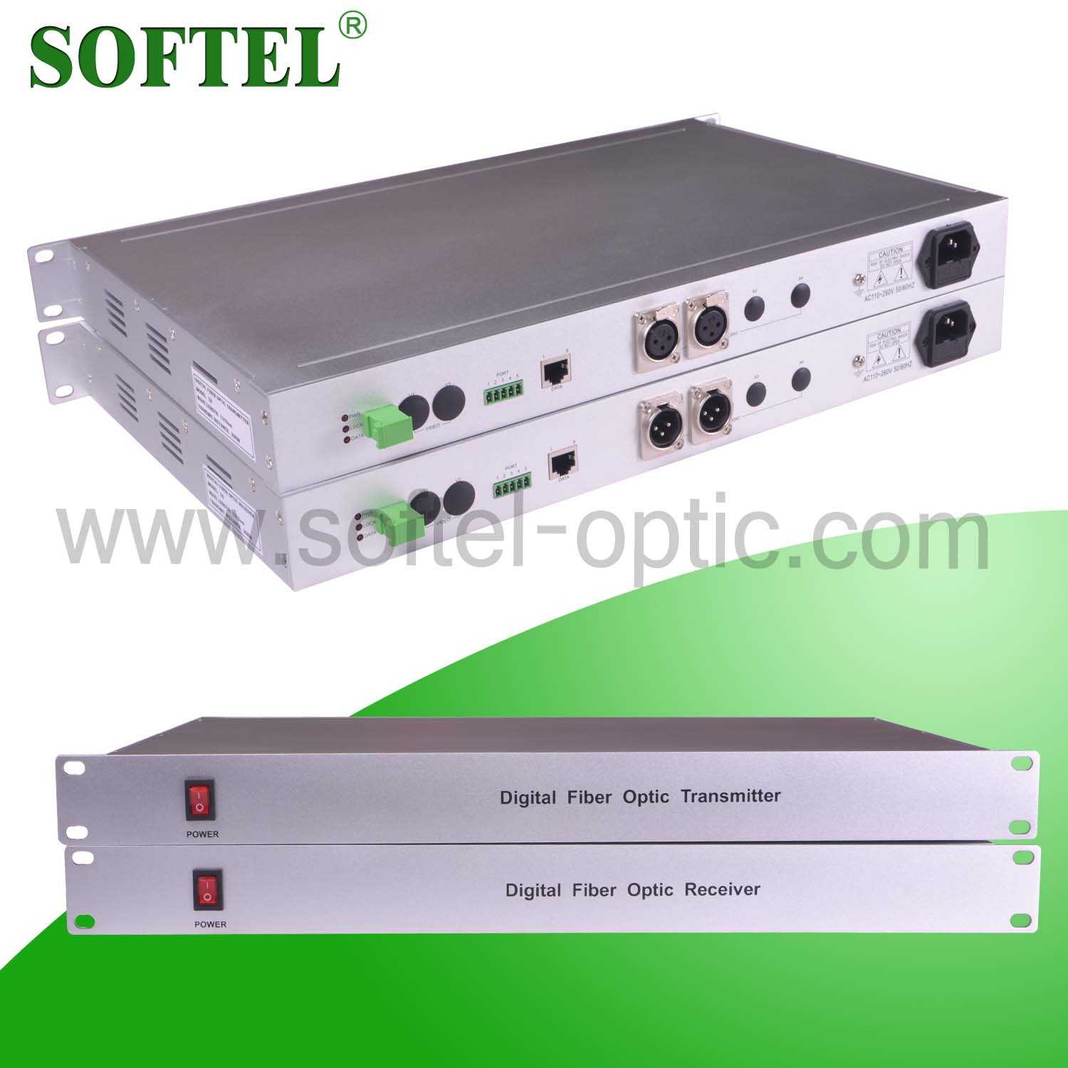 Softel CCTV Video Audio Data Converter with Optional RS485 Interface