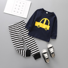 2017 Newborn baby outfit Cartoon Picture Printed Long sleeve T-shirt + Pants 2pcs Suit Casual baby autumn clothes