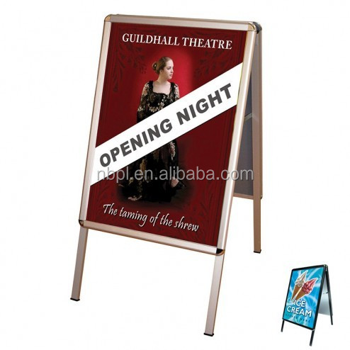outdoor sandwich boards with snap frame display stand used for advertising display