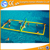 Floating water park water volleyball fields, inflatable water volleyball court