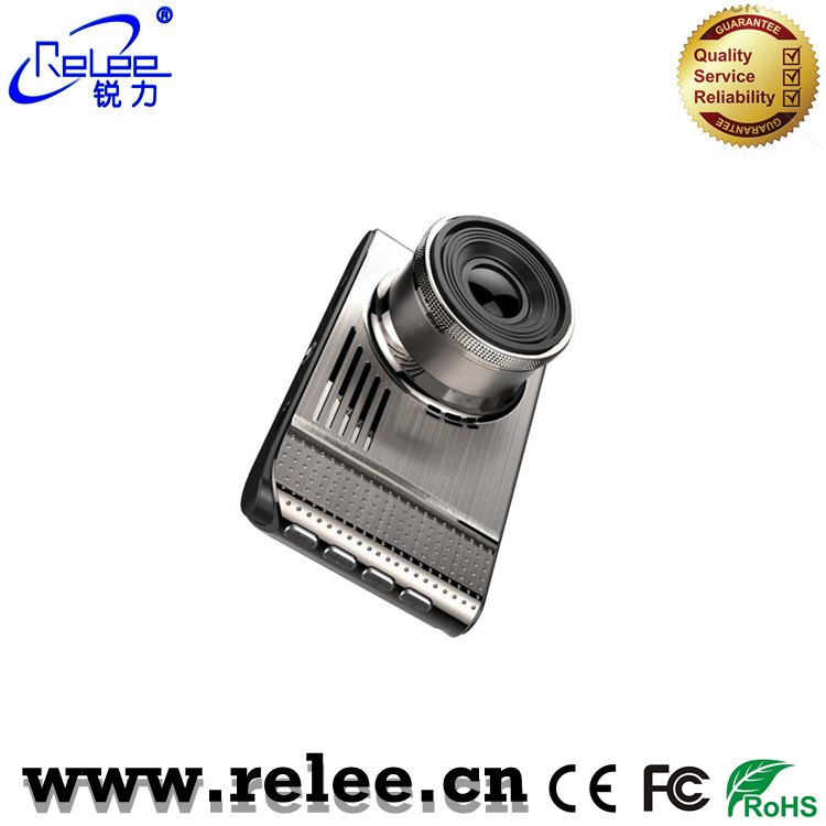 Infrared night vision FHD car front video camera with nice metal design
